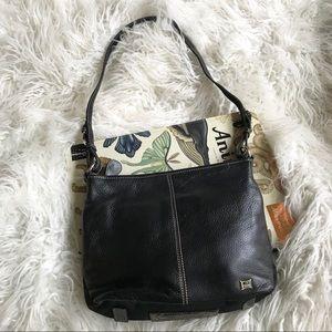 The Sak black leather shoulder bag